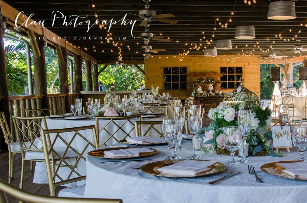 The Old Grove Outdoor Wedding Reception In Miami
