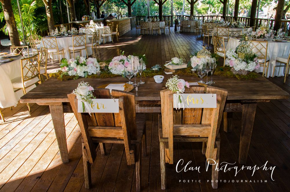 Outdoor Wedding Reception in South Florida